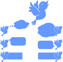 Social-Media-Blue-Bird-Icons